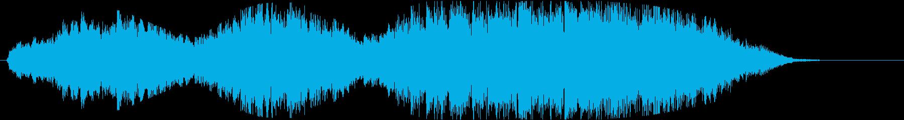ピアノと弦楽の広大で幻想的なジングルの再生済みの波形
