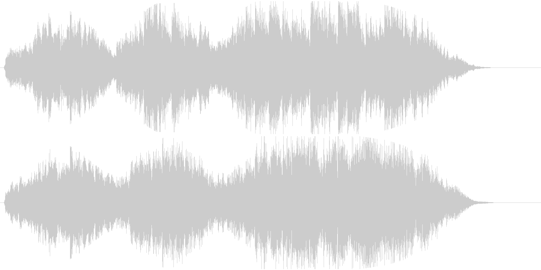 ピアノと弦楽の広大で幻想的なジングルの未再生の波形