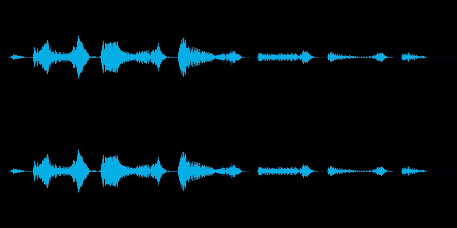 笑い声 - 4~5歳 女の子 - 30_の再生済みの波形