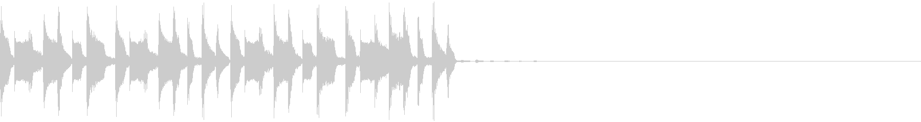 スローなトラップジングル5の未再生の波形