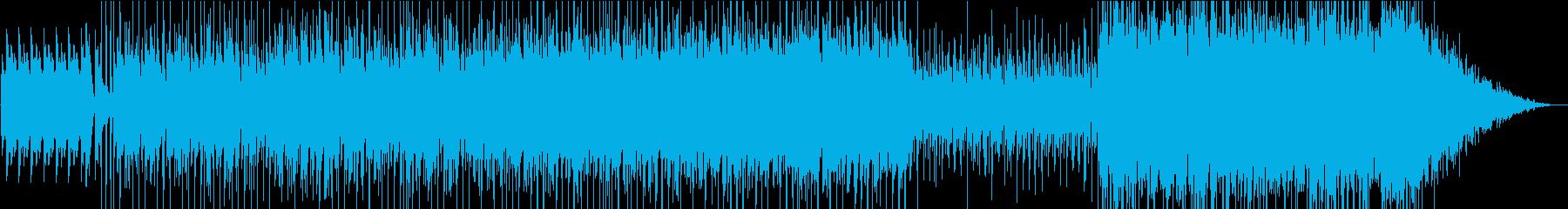 ラテン系のポップスの再生済みの波形