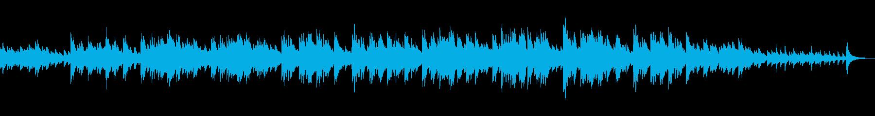 ロマンチックなソフトピアノの再生済みの波形