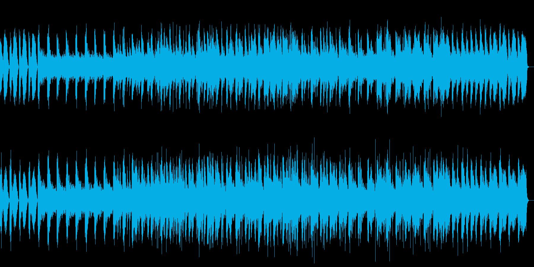 ピアノと波の音のヒーリングの再生済みの波形