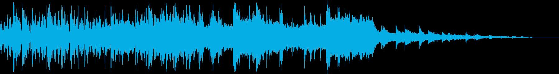 ノスタルジックなハープの音色が幻想的な曲の再生済みの波形