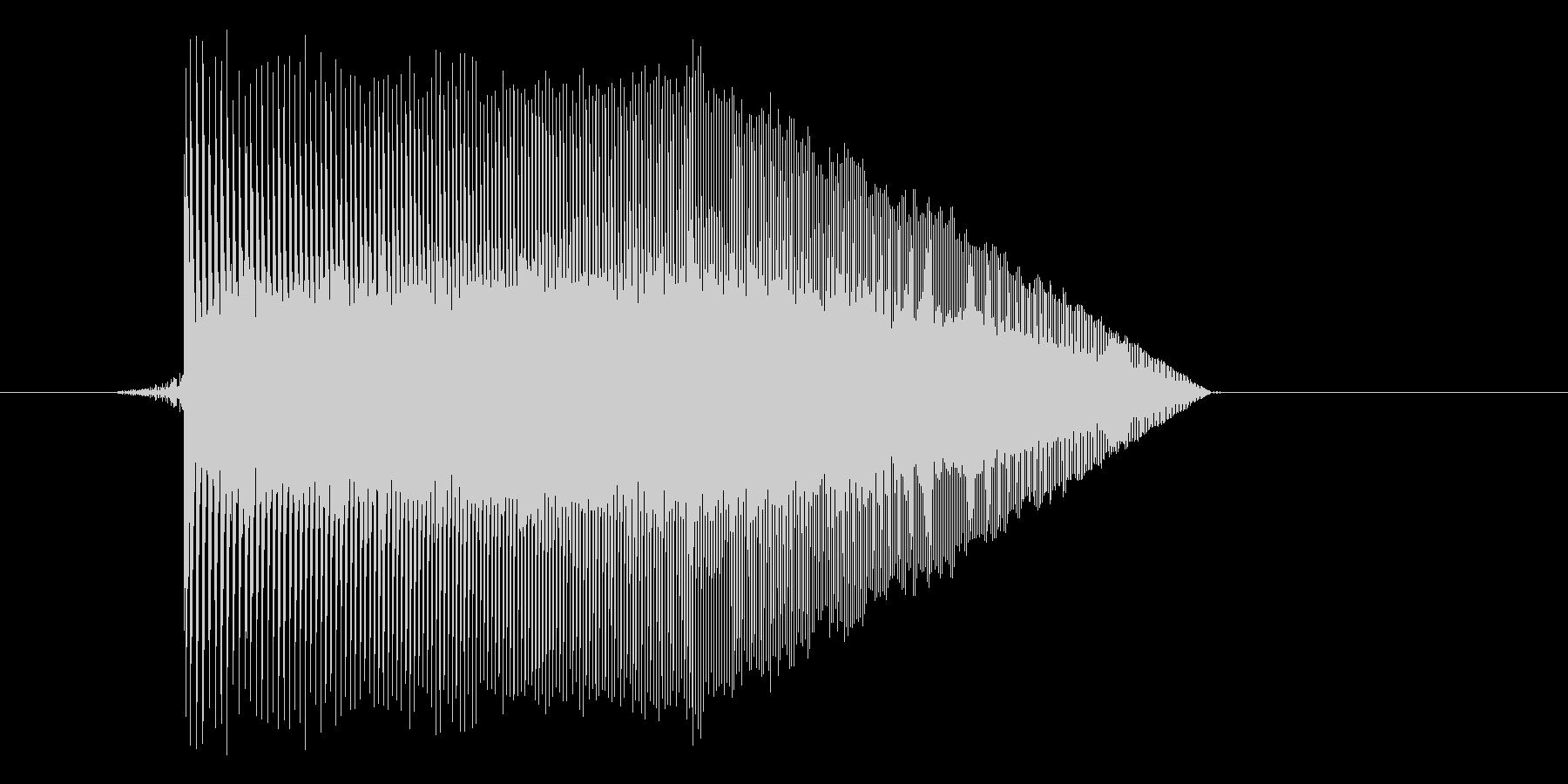 ゲーム(ファミコン風)ジャンプ音_006の未再生の波形