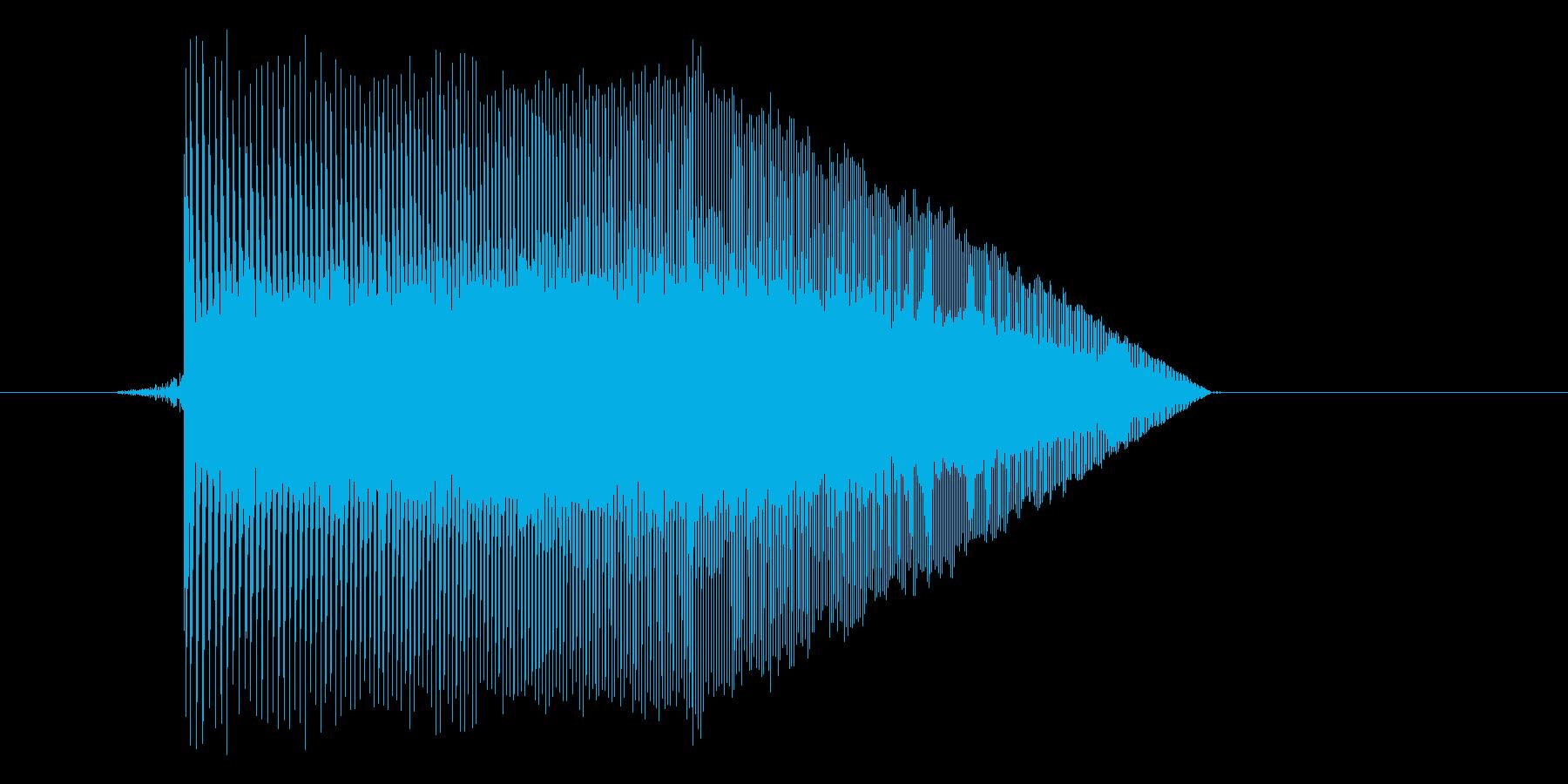 ゲーム(ファミコン風)ジャンプ音_006の再生済みの波形