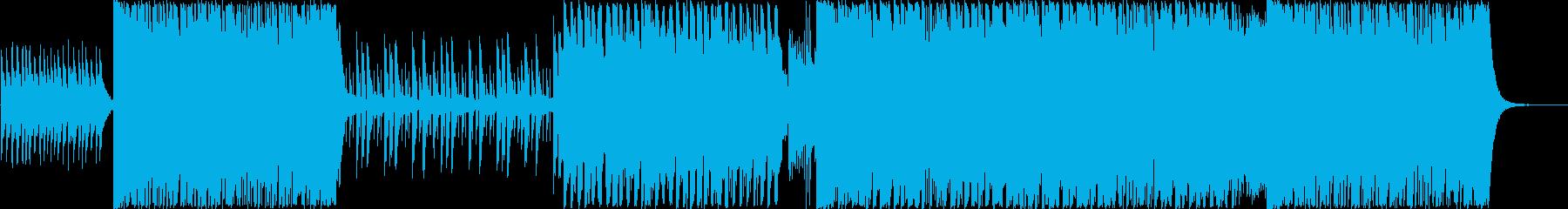 哀愁感のある切ないデジタルJ-POPの再生済みの波形