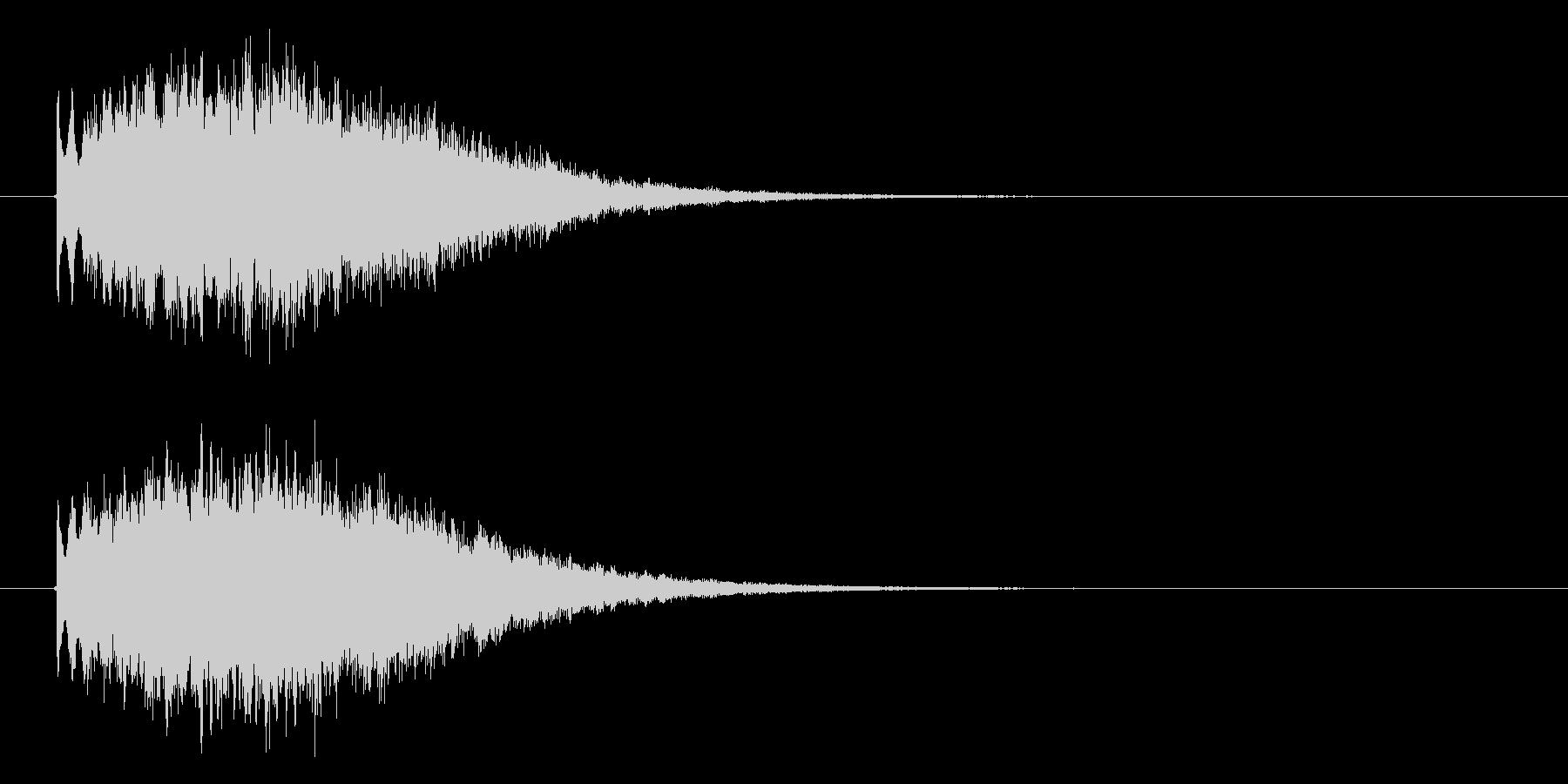 幻想的なキラキラの未再生の波形