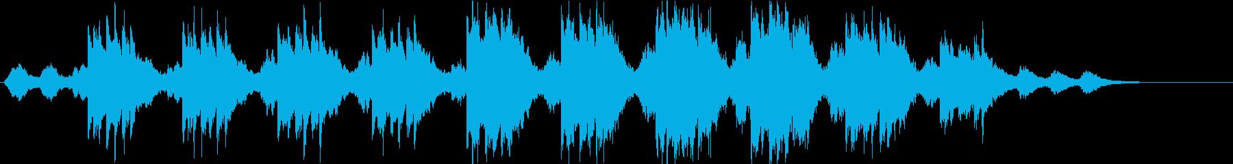 切なさ漂うアンビエント・ピアノ曲の再生済みの波形