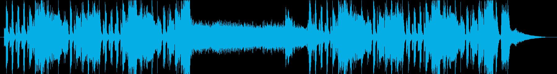 トランペットのメロディが怪しい雰囲気の曲の再生済みの波形