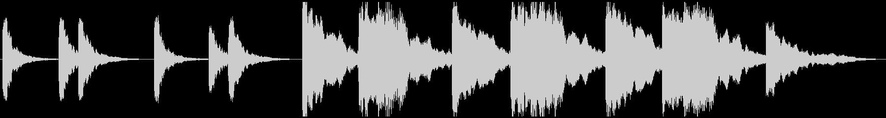 シーケンス ベントリアリティピアノ01の未再生の波形