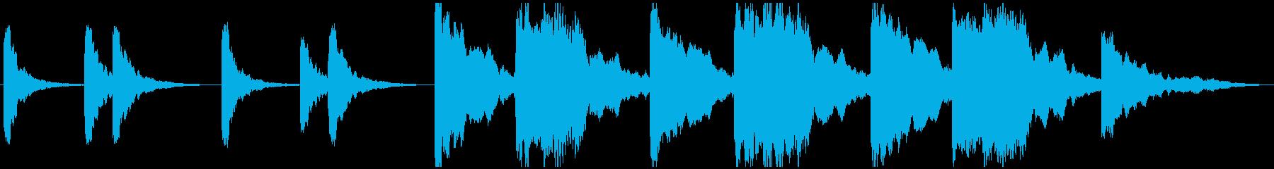 シーケンス ベントリアリティピアノ01の再生済みの波形