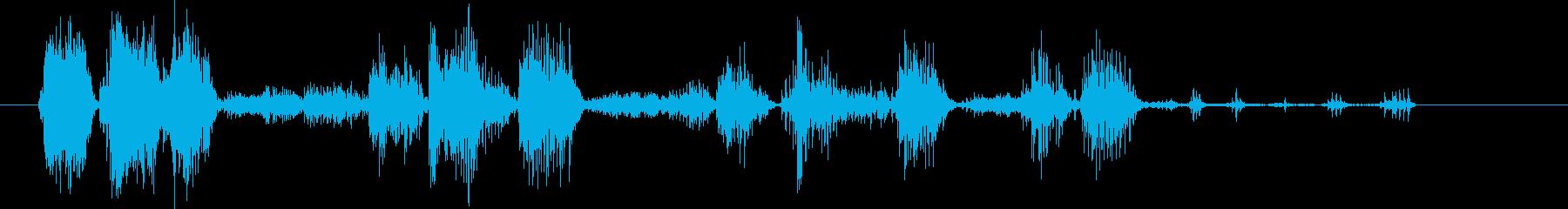 ライオンのar音。重いうなり声とう...の再生済みの波形