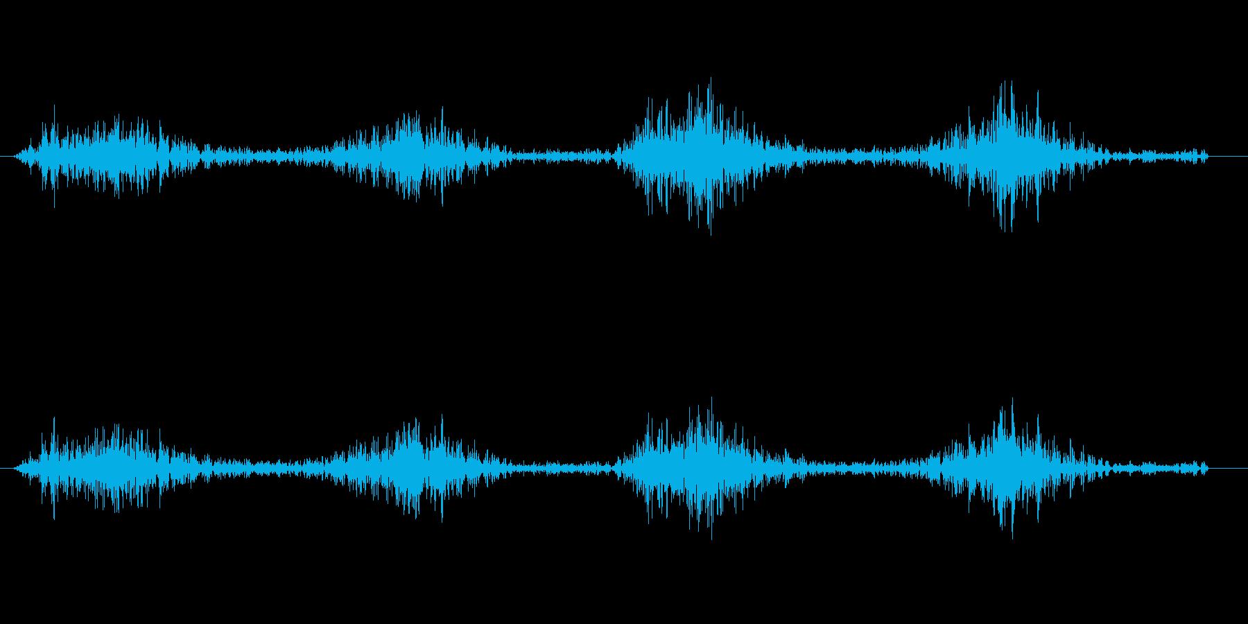 シャワシャワッ(素早い動き)の再生済みの波形