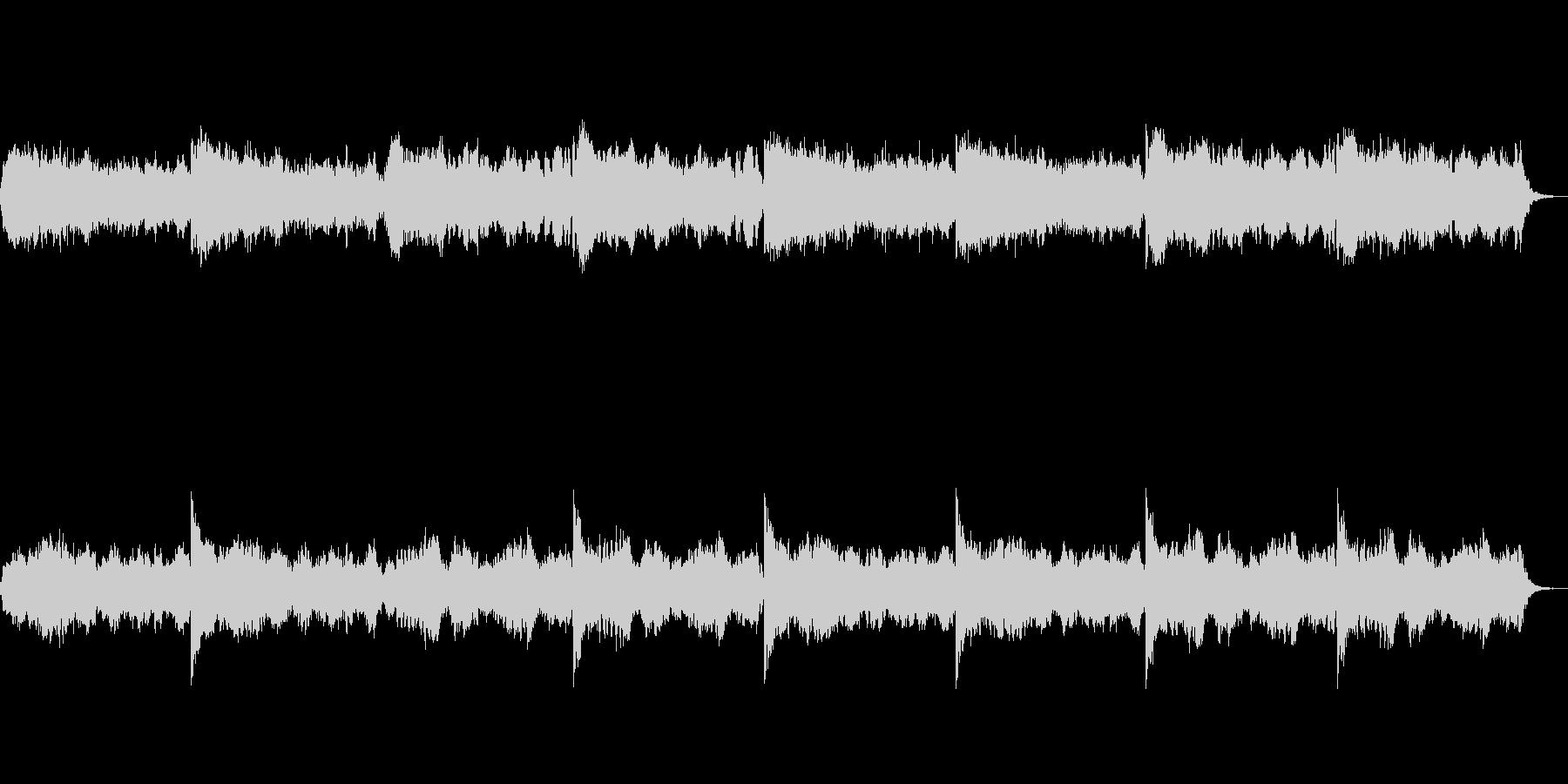 アルトフルートを使ったホラーな音楽の未再生の波形
