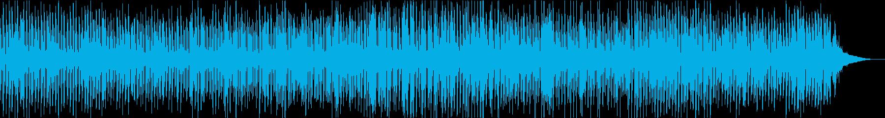 寂しげでもなぜか明るい雰囲気のBGMの再生済みの波形