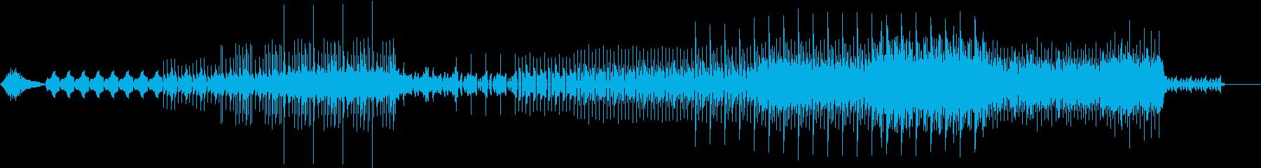 サイバー・スペースをイメージしたテクノの再生済みの波形