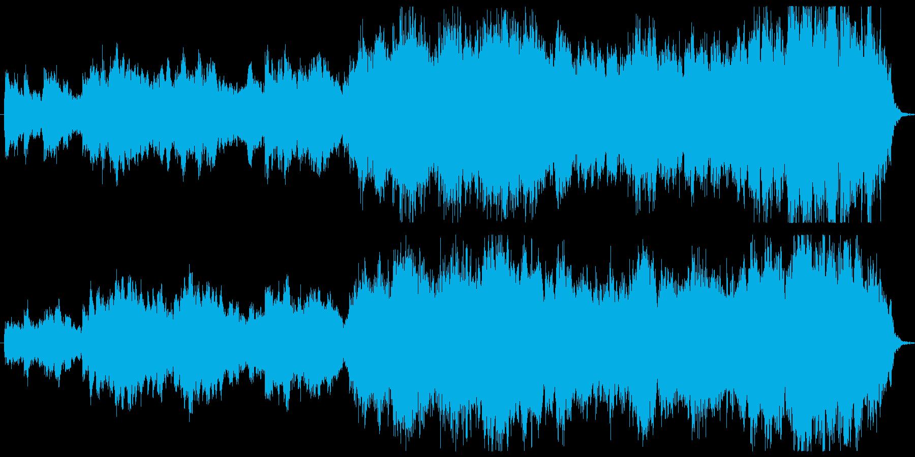 緊張感帯びるサスペンスシーンBGMの再生済みの波形
