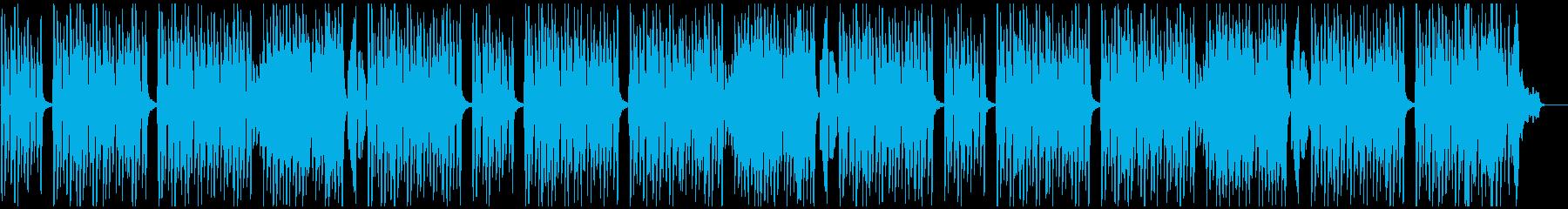 ピアノとシンセベルなどの軽い曲の再生済みの波形