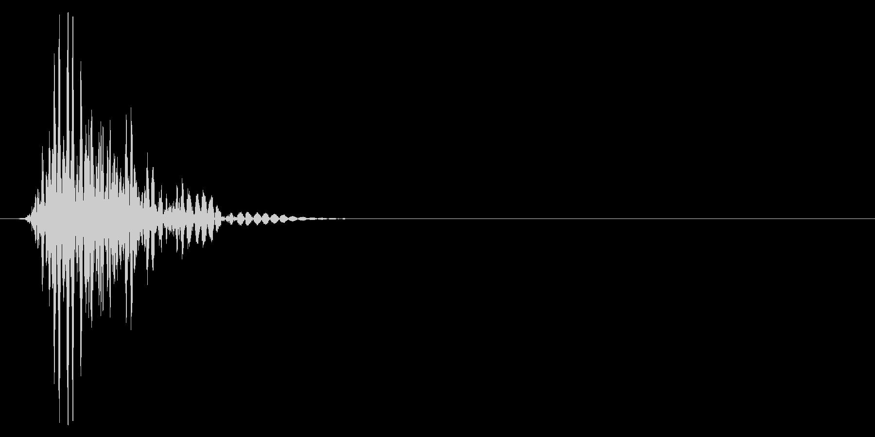 ゲーム掛け声ゾンビ1アッ2の未再生の波形