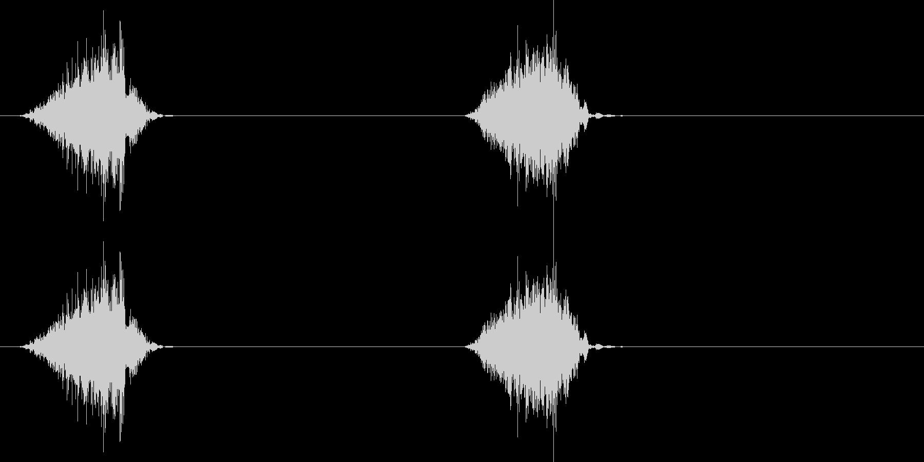 ジャリ、ジャリ(砂を踏んだ音)の未再生の波形
