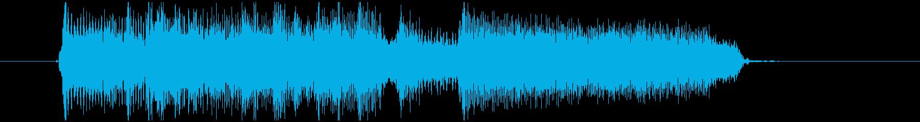 場の雰囲気を変えるギターロックジングルの再生済みの波形