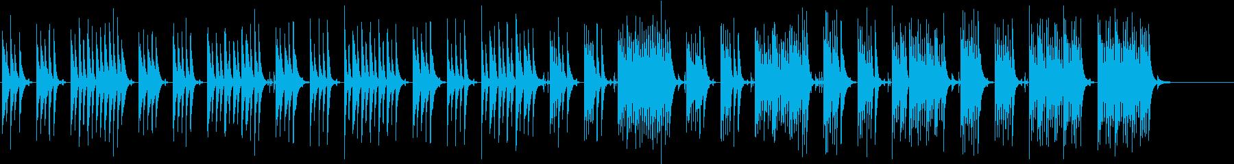 木琴がメインでほのぼのとした曲の再生済みの波形