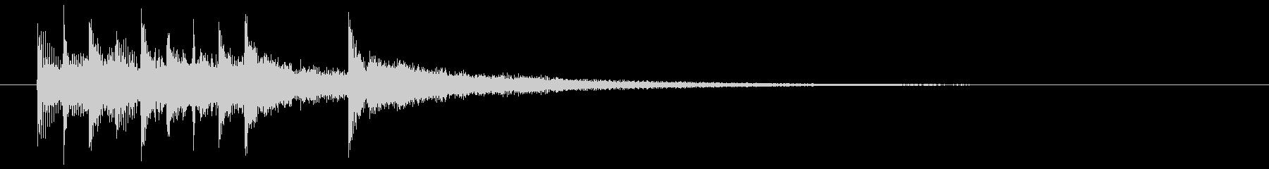 清涼感ある企業向けジングルサウンドロゴ2の未再生の波形