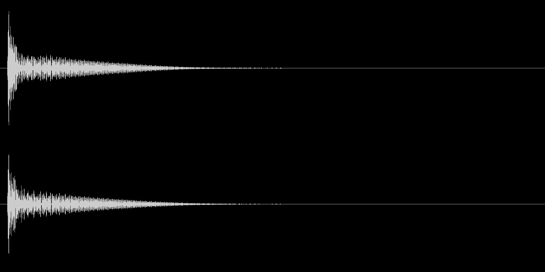 「ドン」和太鼓の大太鼓の単発音+FXの未再生の波形