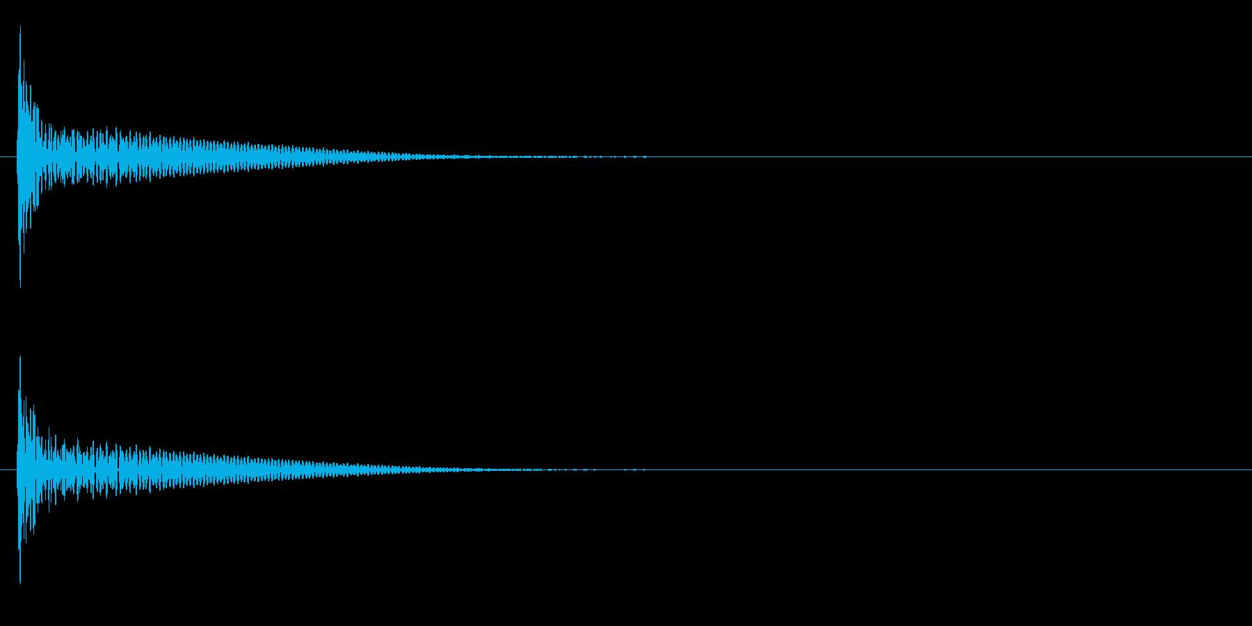 「ドン」和太鼓の大太鼓の単発音+FXの再生済みの波形