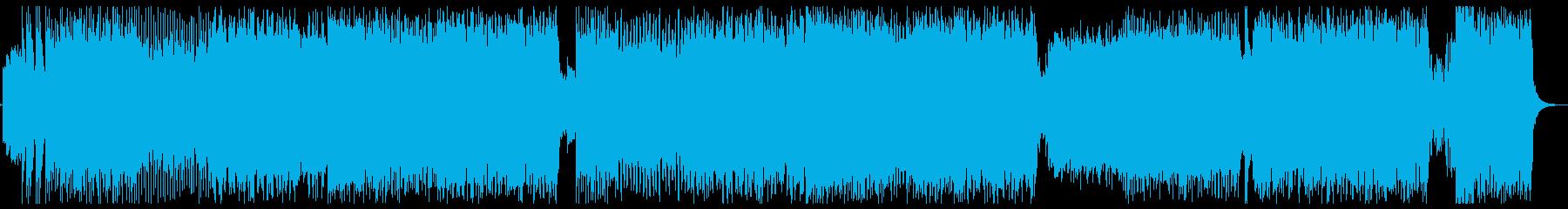 LiSA風ロックサウンド楽曲の再生済みの波形