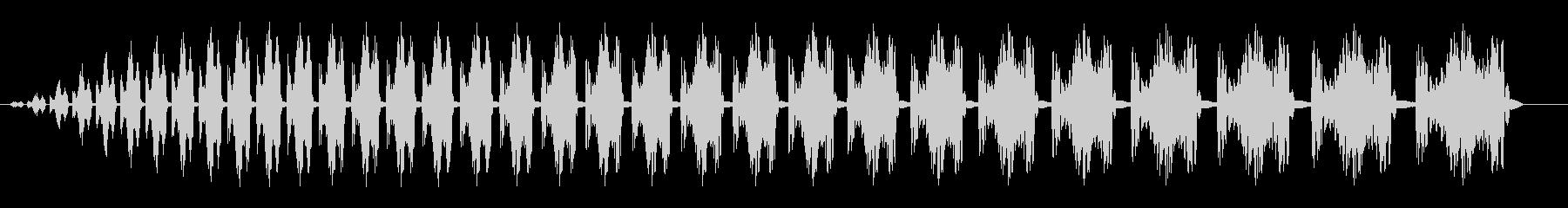 コミカル飛行音(次第に重くなる音)の未再生の波形