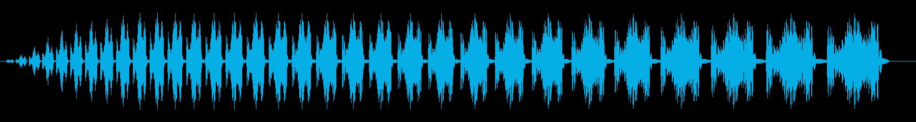 コミカル飛行音(次第に重くなる音)の再生済みの波形