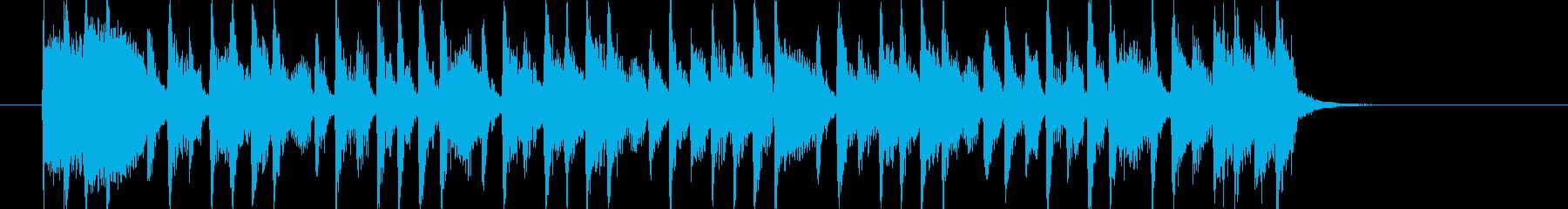 ポップでキャッチ―でコミカルなジングルの再生済みの波形