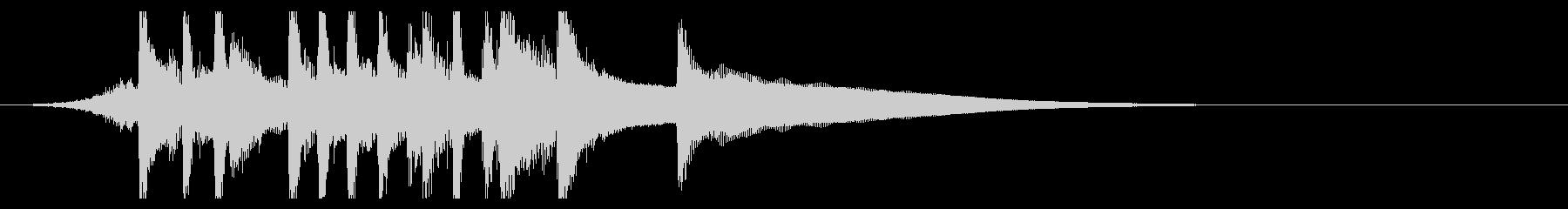 爽やかピアノジングル ほのぼのポップの未再生の波形