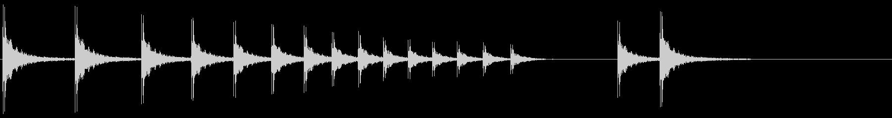 SE 柝(拍子木・きざみ)-2の未再生の波形