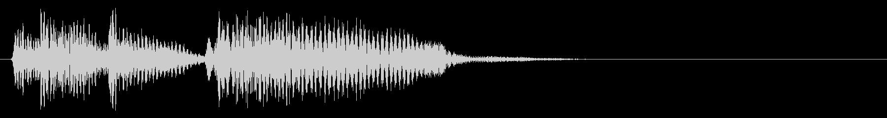 JAZZ BASS切り替え場面ジングの未再生の波形