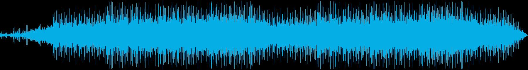 イントロから15秒で激しく始まるBGMの再生済みの波形