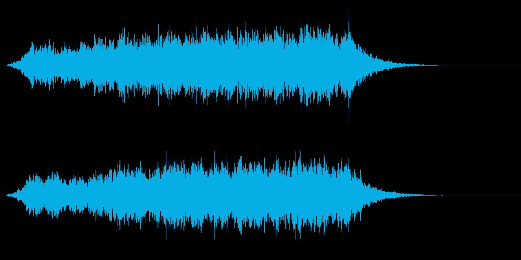 パソコンの起動音風ジングル2の再生済みの波形