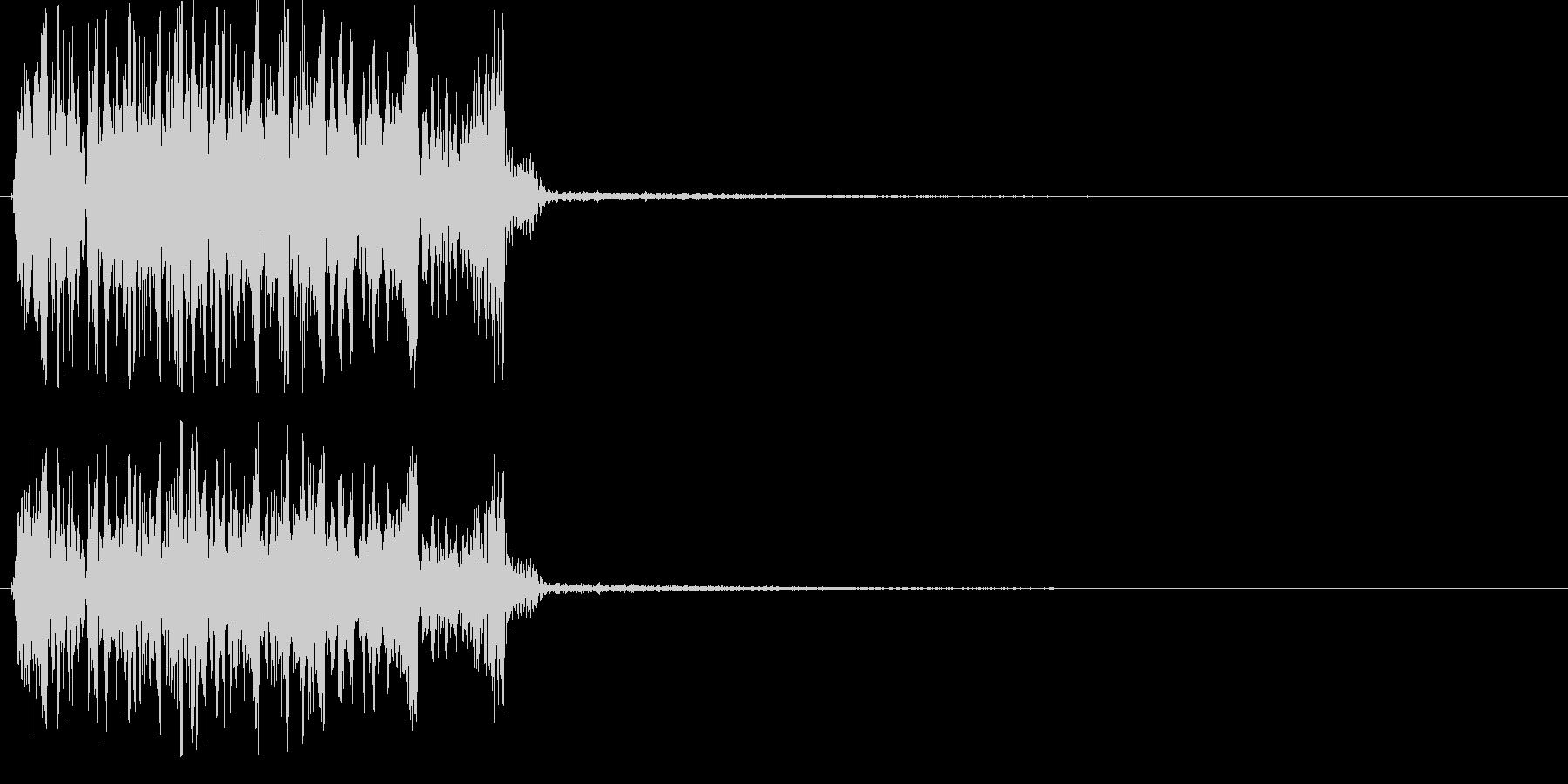 DJがレコードを素早く巻き戻した音の未再生の波形