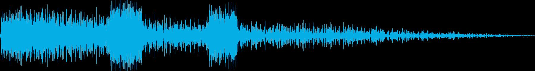 鳩時計(ボーン、カッコー)の再生済みの波形
