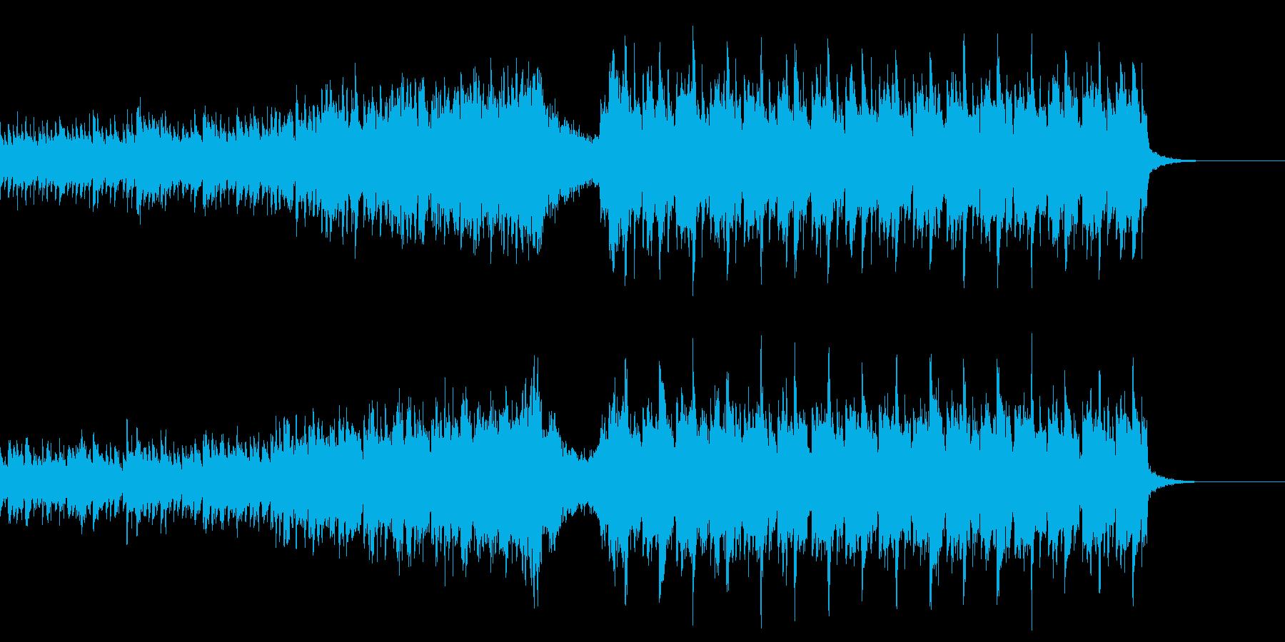 壮大で感動的なゆっくりめの四つ打ちの再生済みの波形