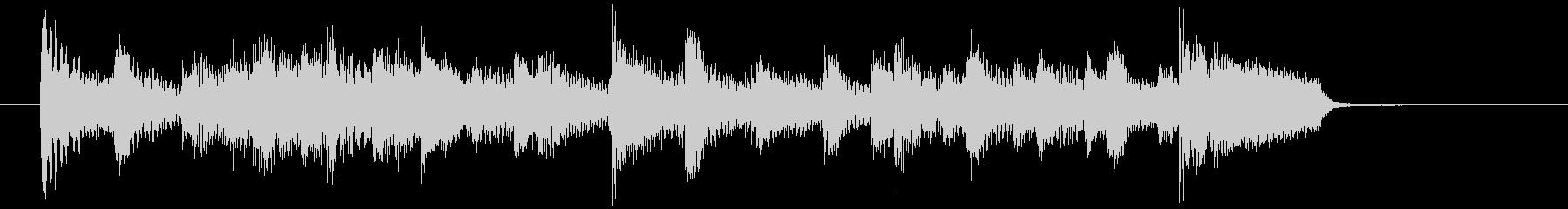 おしゃれなジャズピアノのジングル シックの未再生の波形
