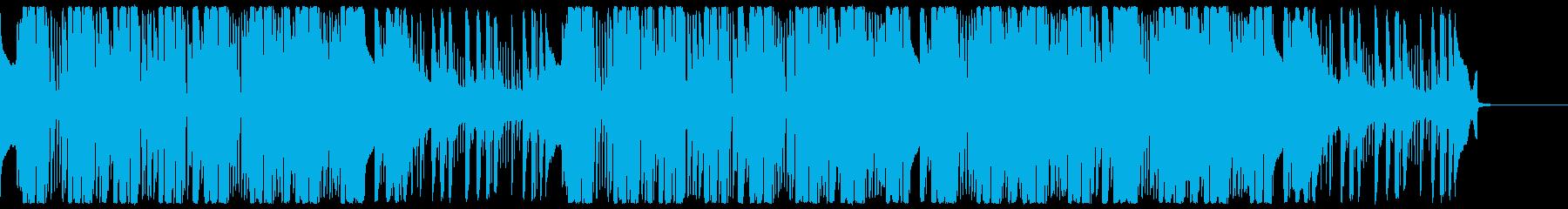 カラフルでモダンなアーバンエレクトロの再生済みの波形