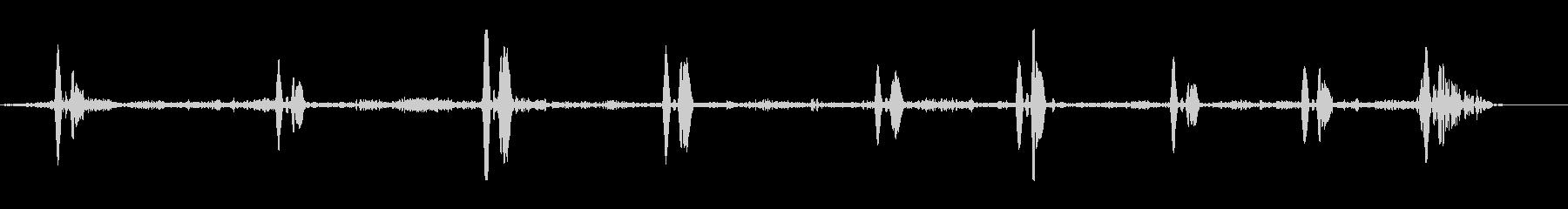 デュポンアローザベクーダラークの未再生の波形