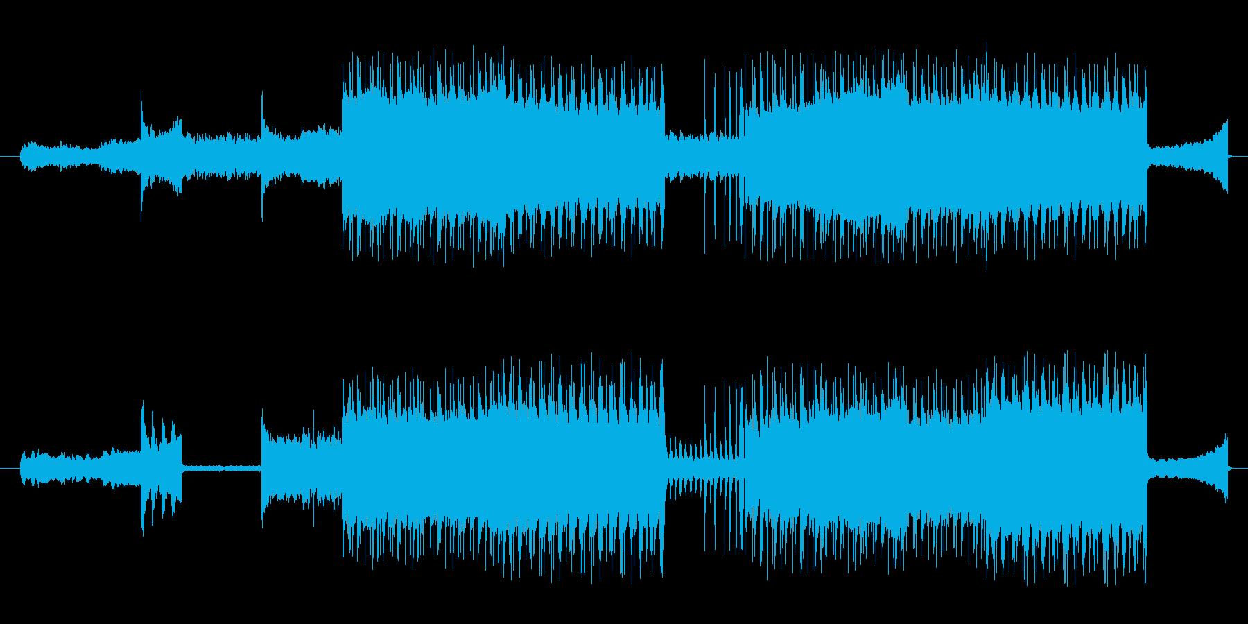 恐竜や怪獣が出てきそうな曲調の再生済みの波形