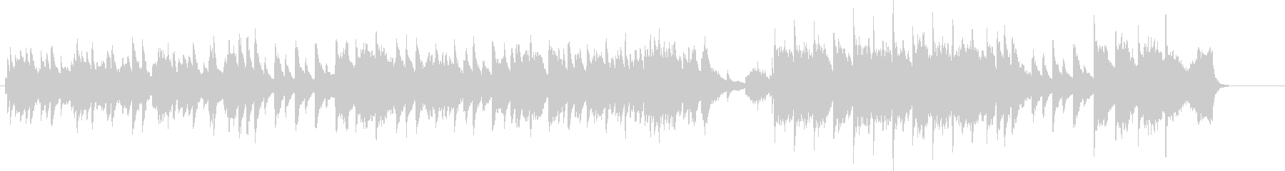 ピアノがメインのバラードBGMの未再生の波形