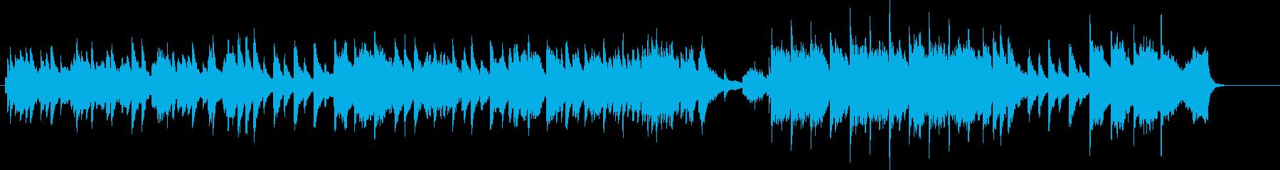 ピアノがメインのバラードBGMの再生済みの波形
