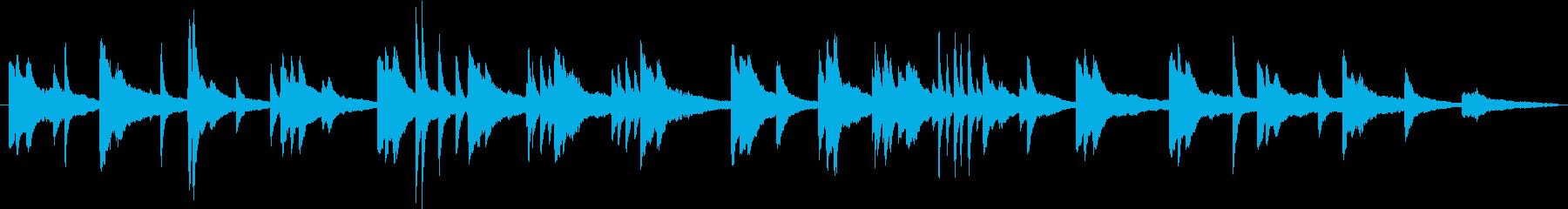 リラックスできるピアノ曲の再生済みの波形