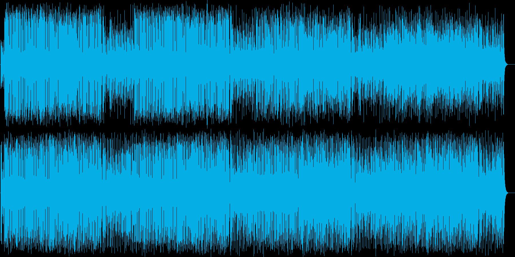 明るく楽しいシンセサイザーのポップの再生済みの波形